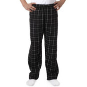 Robinson Youth Gridiron Flannel Pants, Black/Grey, L Wholesale Bulk