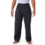 Robinson Adult Gridiron Flannel Pants, Black/ Grey, XL Wholesale Bulk