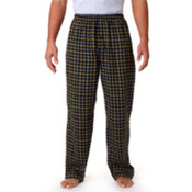 Robinson Adult Gridiron Flannel Pants, Black/ Gold, 2XL Wholesale Bulk