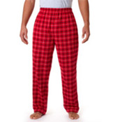Robinson Adult Gridiron Flannel Pants, Red/ Black, XL Wholesale Bulk