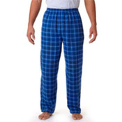 Robinson Adult Gridiron Flannel Pants, Royal/ Black, L Wholesale Bulk
