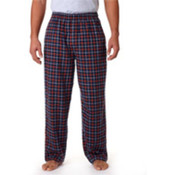 Robinson Adult Gridiron Flannel Pants, Navy/ Orange, L Wholesale Bulk