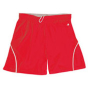 Badger B-Core 5' Girls Closer Shorts - Red/White (S) Wholesale Bulk