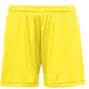 Badger B-Core Girls 4' Performance Shorts - Safety Yellow (L) Wholesale Bulk