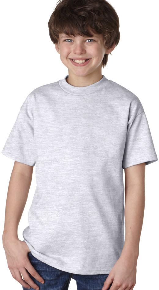 Wholesale Hanes Youth Tagless T Shirt Ash M Sku