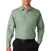 Van Heusen Men's Wrinkle-Free Shirt Sage Large