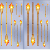 Beistle Company Tiki Torch Add-Ons Wholesale Bulk