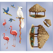 Beistle Company Tiki Hut & Tropical Bird Add-Ons Wholesale Bulk