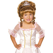 Brown Child Wig with Tiara, Brown, Wholesale Bulk