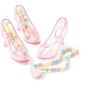 Party Destination Candy-Filled Crystal Shoes 8 Pieces Wholesale Bulk