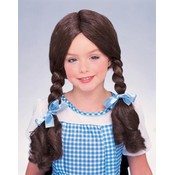 The Wizard of Oz Dorothy Wig, Brown, One Size Wholesale Bulk