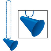 Beistle Company Beads with Megaphone Medallion - Blue Wholesale Bulk
