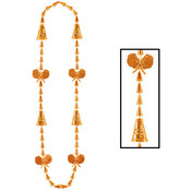 Beistle Company Cheerleading Beads - Orange Wholesale Bulk