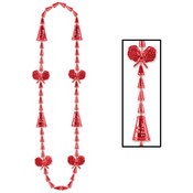 Beistle Company Cheerleading Beads - Red Wholesale Bulk