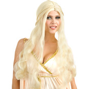 Blonde Flower Child Wig (Adult), Yellow, One-Size Wholesale Bulk