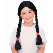Native American Princess Wig (Child), Black, One-Size Wholesale Bulk