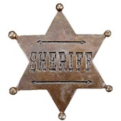 Elope Sheriff Star Badge, Copper, One-Size Wholesale Bulk