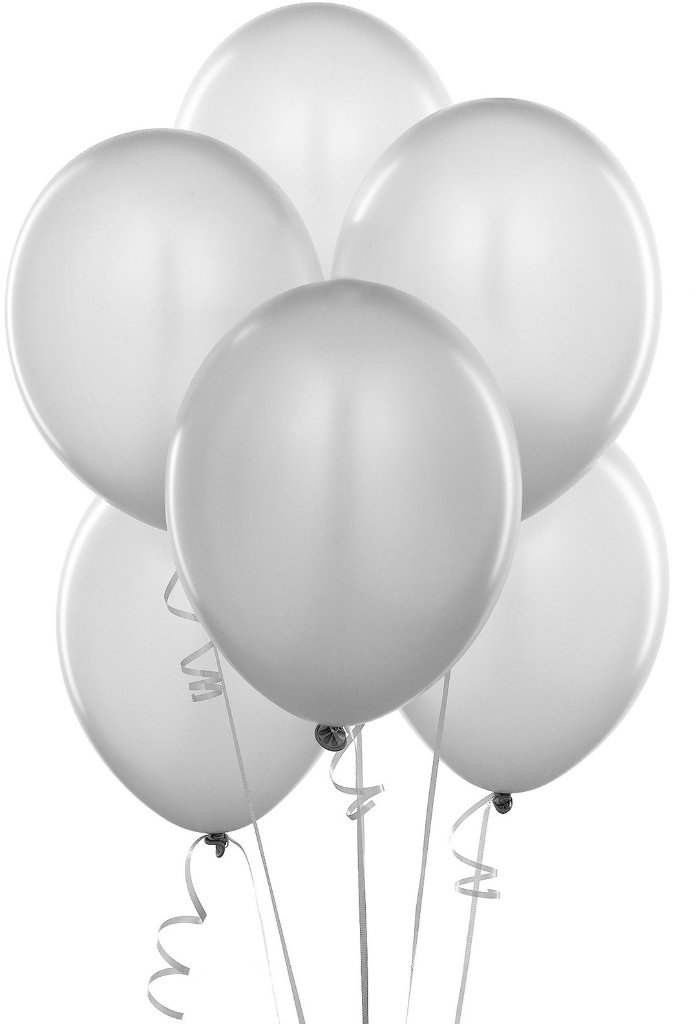 Wholesale shimmering silver silver balloons 6 sku for Silver cloud balloons