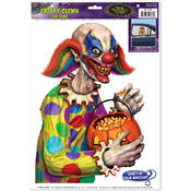 Creepy Clown Backseat Driver Car Cling