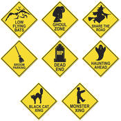 Halloween Road Sign Cutouts