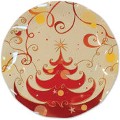 Ex.Tra. Italian Tableware - Christmas Tree Small Plates Wholesale Bulk