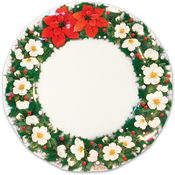 Italian Tableware - Poinsettia Large Plates