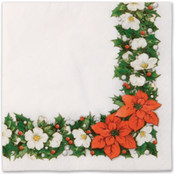 Italian Tableware - Poinsettia Dinner Napkins