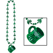 Shamrock Beads w/Happy St Pat's Mug