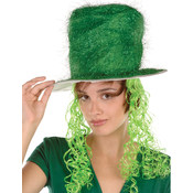 Tinsel Top Hat w/Curly Wig Wholesale Bulk