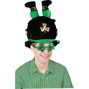 Plush Leprechaun Pot-O-Gold Hat Wholesale Bulk