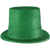 Green Glittered Top Hat Wholesale Bulk