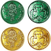 Lucky Leprechaun Plastic Coins