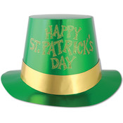 Glittered St Patrick's Day Foil Hi-Hat Wholesale Bulk