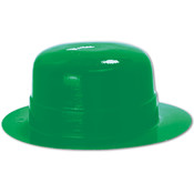 Miniature Green Plastic Derby Wholesale Bulk