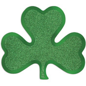Glittered Foil Shamrock Cutouts