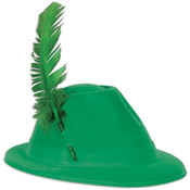 Green Velour Alpine Hat Wholesale Bulk