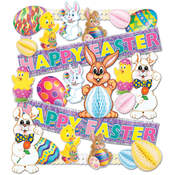 Easter Decorating Kit - 25 Pieces