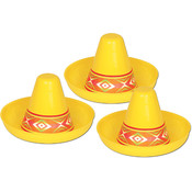 Miniature Yellow Plastic Sombrero