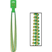Green and Gold Party Beads - Small Round