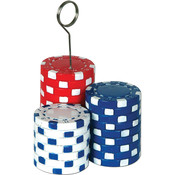 Poker Chips Photo/Balloon Holder Wholesale Bulk