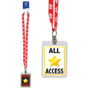 Beistle VIP Party Pass Lanyard with Card Holder - 25' Wholesale Bulk
