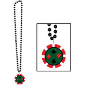 Beads w/Poker Chip Medallion Wholesale Bulk