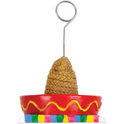 Sombrero w/Serape Photo/Balloon Holder Wholesale Bulk