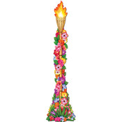 Beistle Luau Jointed Floral Tiki Torch - 4' Wholesale Bulk