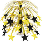 Star Cascade Centerpiece - Black and Gold Wholesale Bulk