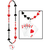 Card Suit Beads w/Royal Flush Medallion Wholesale Bulk