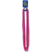 Party Beads - Small Round - Cerise Wholesale Bulk