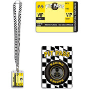 Beistle Racing lanyard with card holder Pit Pass - 25' Wholesale Bulk