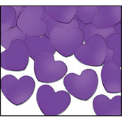 Beistle General Occasion Purple Fanci-Fetti Hearts 12 Pack Wholesale Bulk