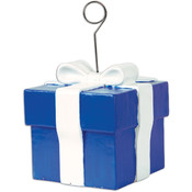 Blue Gift Box Photo/Balloon Holder Wholesale Bulk